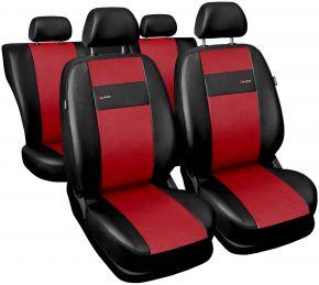 Fundas de asiento universales X-Line rojo