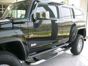 Marcos laterales de acero inoxidable para Hummer H3 2005-2010