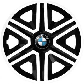 "Tapacubos para BMW 16"", ACTION DOUBLECOLOR BLANCO-NEGRO 4 pzs"