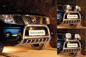 Bullbar delanteros Steeler para Nissan Navara 2005-2010 Modelo G
