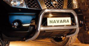 Bullbar delanteros Steeler para Nissan Navara 2005-2010 Modelo A