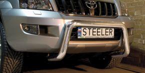 Bullbar delanteros Steeler para Toyota Land Cruiser 120 2003-2009 Modelo U