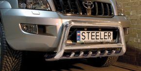 Bullbar delanteros Steeler para Toyota Land Cruiser 120 2003-2009 Modelo G