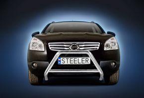 Bullbar delanteros Steeler para Nissan Qashqai 2007-2010 Modelo A