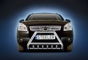 Bullbar delanteros Steeler para Nissan Qashqai 2007-2010 Modelo G