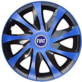"Tapacubos para FIAT BLUE 15"", DRACO AZUL 4 pzs"