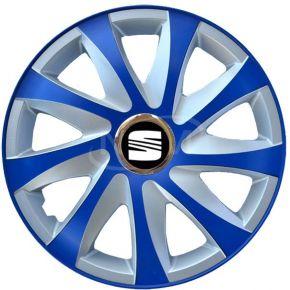 "Tapacubos para SEAT 14"", DRIFT EXTRA azul-plata  4pzs"