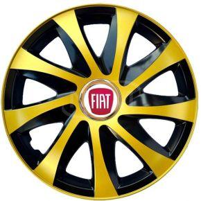 "Puklice pre FIAT 16"", DRIFT EXTRA zlaté 4ks"