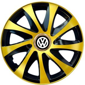 "Tapacubos para VOLKSWAGEN 14"", DRIFT EXTRA oro 4pzs"