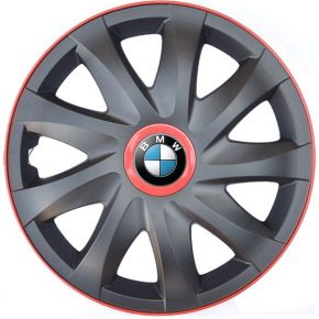 """Tapacubos para BMW 14"""", KANDO RACE rojo 4pzs"""