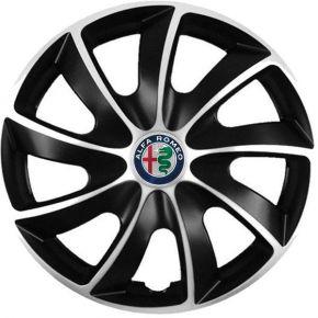 "Puklice pre Alfa Romeo 14"", Quad bicolor, 4 ks"