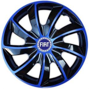 """Tapacubos para FIAT BLUE 15"""", QUAD BICOLOR AZUL 4 pzs"""