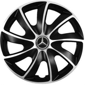 """Puklice pre Mercedes 17"""", Quad bicolor, 4 ks"""