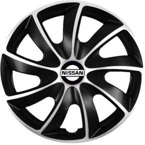 "Puklice pre Nissan 14"", Quad bicolor, 4 ks"