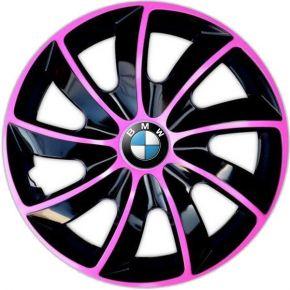 """Tapacubos para BMW 16"""", QUAD BICOLOR ROSA 4 pzs"""