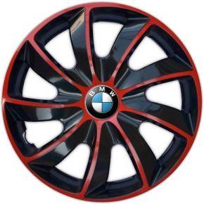 "Tapacubos para BMW 16"", QUAD BICOLOR ROJO 4 pzs"