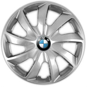 "Tapacubos para BMW 16"", QUAD GRIS 4 pzs"