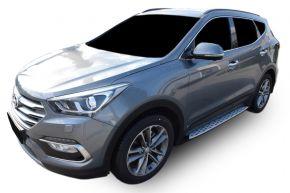 Barras de paso lateral para Hyundai Santa Fe 2013-2018