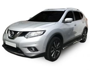 Marcos laterales de acero inoxidable para Nissan X-Trail T32 2014-up