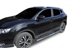 "Marcos laterales de acero inoxidable para Nissan Qashqai 2014-2019 4"" oval"