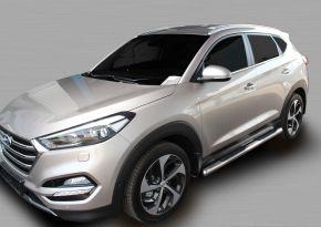 Marcos laterales de acero inoxidable para Hyundai Tucson 2015-up