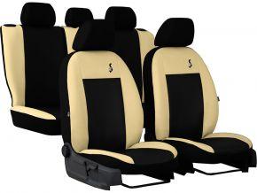 Fundas de asiento universales Piel ROAD beige