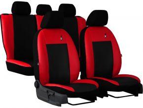 Fundas de asiento universales Piel ROAD rojo