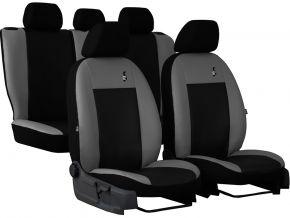 Fundas de asiento universales Piel ROAD gris