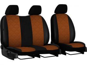 Fundas de asiento a medida Piel con impresión FIAT DOBLO IV 2+1 (2015→)