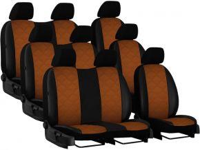 Fundas de asiento a medida Piel con impresión VOLKSWAGEN T5 9p. (2003-2015)