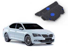 Protectores  de motor y caja de cambios Skoda Superb FWD/4WD 1,4TSI; FWD/4WD 1,8TSI; FWD/4WD 2,0TSI 2015-