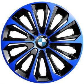 "Tapacubos para BMW 16"", STRONG DUOCOLOR NEGRO-AZUL 4 pzs"