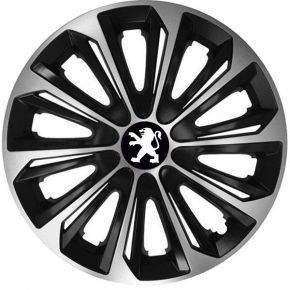 "Tapacubos para PEUGEOT 16"", STRONG DUOCOLOR 4 pzs"