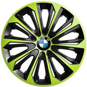 "Tapacubos para BMW 16"", STRONG DUOCOLOR VERDE-BLANCO 4 pzs"