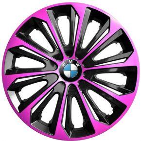 "Tapacubos para BMW 15"", STRONG DUOCOLOR ROSA-NEGRO 4 pzs"