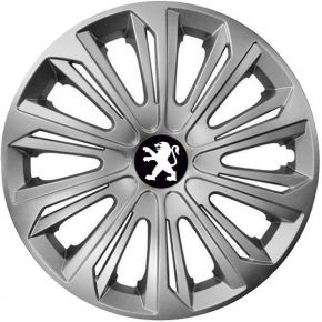 "Tapacubos para PEUGEOT 16"", STRONG GRIS 4 pzs"