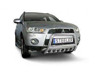 Bullbar delanteros Steeler para Mitsubishi Outlander 2010-2012 Modelo G