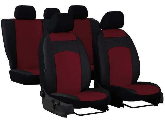 Rojo-Negro Tela Fundas de los asientos delanteros para Fiat Fiorino Scudo Ducato Iveco Daily